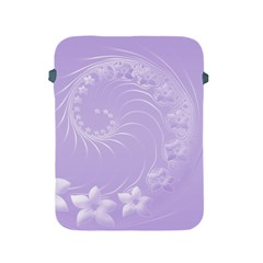 Light Violet Abstract Flowers Apple iPad 2/3/4 Protective Soft Case