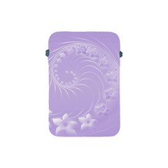 Light Violet Abstract Flowers Apple iPad Mini Protective Soft Case
