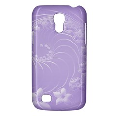 Light Violet Abstract Flowers Samsung Galaxy S4 Mini Hardshell Case
