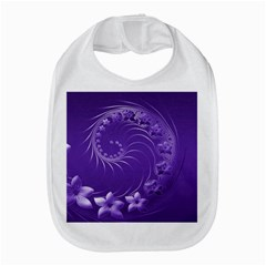 Violet Abstract Flowers Bib