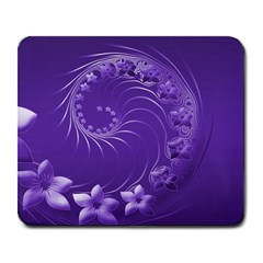Violet Abstract Flowers Large Mouse Pad (Rectangle)