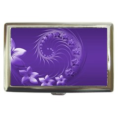Violet Abstract Flowers Cigarette Money Case