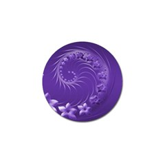 Violet Abstract Flowers Golf Ball Marker