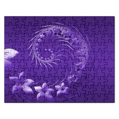 Violet Abstract Flowers Jigsaw Puzzle (Rectangle)
