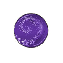 Violet Abstract Flowers Golf Ball Marker 4 Pack (for Hat Clip)