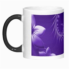 Violet Abstract Flowers Morph Mug