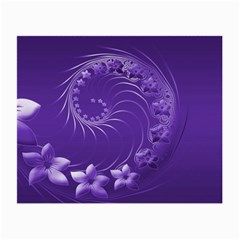 Violet Abstract Flowers Glasses Cloth (Small, Two Sided)