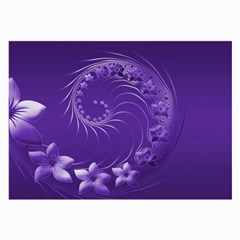 Violet Abstract Flowers Glasses Cloth (large, Two Sided)