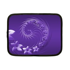 Violet Abstract Flowers Netbook Case (Small)