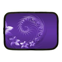 Violet Abstract Flowers Netbook Case (medium)