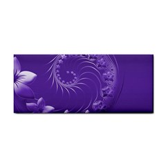 Violet Abstract Flowers Hand Towel