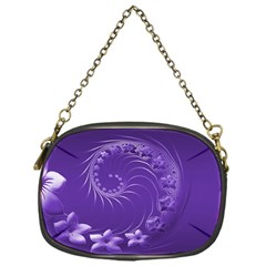 Violet Abstract Flowers Chain Purse (One Side)