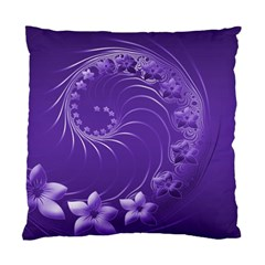 Violet Abstract Flowers Cushion Case (One Side)