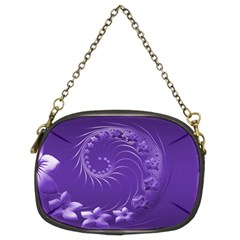Violet Abstract Flowers Chain Purse (Two Side)