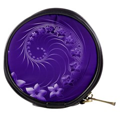 Violet Abstract Flowers Mini Makeup Case