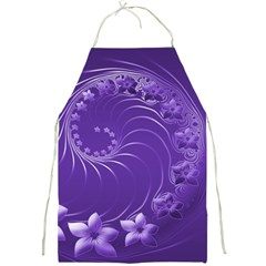 Violet Abstract Flowers Apron