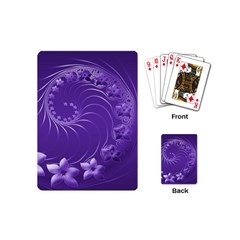 Violet Abstract Flowers Playing Cards (mini)