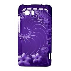 Violet Abstract Flowers HTC Vivid / Raider 4G Hardshell Case