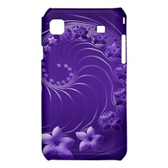 Violet Abstract Flowers Samsung Galaxy S i9008 Hardshell Case