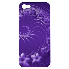 Violet Abstract Flowers Apple iPhone 5 Hardshell Case