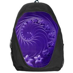 Violet Abstract Flowers Backpack Bag