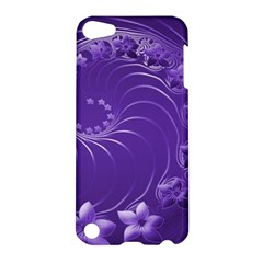Violet Abstract Flowers Apple Ipod Touch 5 Hardshell Case
