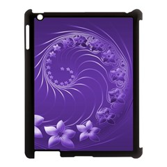 Violet Abstract Flowers Apple Ipad 3/4 Case (black)