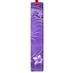 Violet Abstract Flowers Large Bookmark