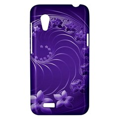 Violet Abstract Flowers HTC Desire VT T328T Hardshell Case