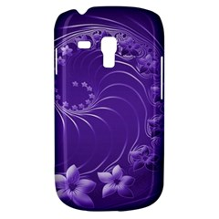 Violet Abstract Flowers Samsung Galaxy S3 Mini I8190 Hardshell Case
