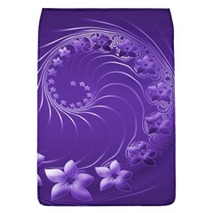 Violet Abstract Flowers Removable Flap Cover (Large)