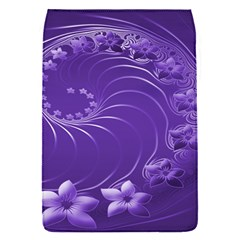 Violet Abstract Flowers Removable Flap Cover (Small)