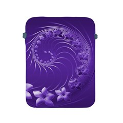Violet Abstract Flowers Apple iPad 2/3/4 Protective Soft Case