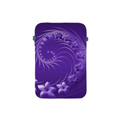 Violet Abstract Flowers Apple iPad Mini Protective Soft Case