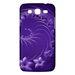 Violet Abstract Flowers Samsung Galaxy Mega 5.8 I9152 Hardshell Case