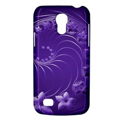 Violet Abstract Flowers Samsung Galaxy S4 Mini Hardshell Case