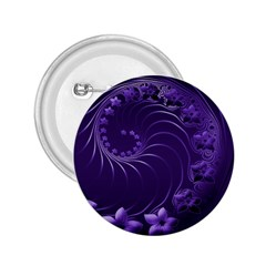 Dark Violet Abstract Flowers 2 25  Button