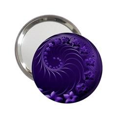 Dark Violet Abstract Flowers Handbag Mirror (2 25 )