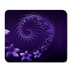 Dark Violet Abstract Flowers Large Mouse Pad (rectangle)
