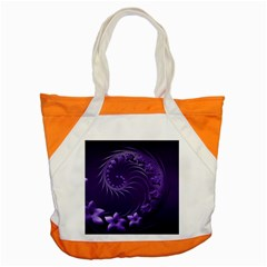 Dark Violet Abstract Flowers Accent Tote Bag