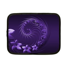 Dark Violet Abstract Flowers Netbook Case (Small)