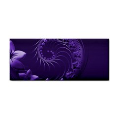 Dark Violet Abstract Flowers Hand Towel