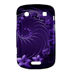 Dark Violet Abstract Flowers BlackBerry Bold Touch 9900 9930 Hardshell Case