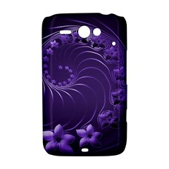Dark Violet Abstract Flowers HTC ChaCha / HTC Status Hardshell Case
