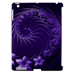 Dark Violet Abstract Flowers Apple iPad 3/4 Hardshell Case (Compatible with Smart Cover)