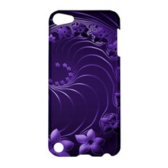 Dark Violet Abstract Flowers Apple iPod Touch 5 Hardshell Case