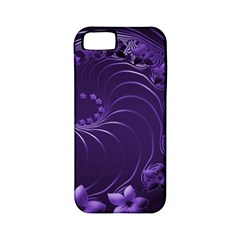 Dark Violet Abstract Flowers Apple iPhone 5 Classic Hardshell Case (PC+Silicone)