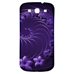 Dark Violet Abstract Flowers Samsung Galaxy S3 S Iii Classic Hardshell Back Case