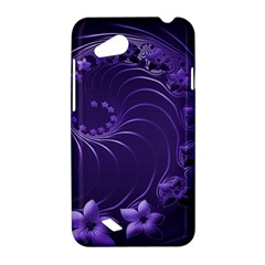 Dark Violet Abstract Flowers HTC T328D (Desire VC) Hardshell Case