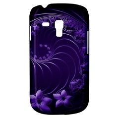 Dark Violet Abstract Flowers Samsung Galaxy S3 MINI I8190 Hardshell Case
